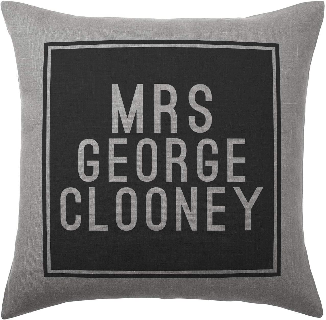 Silver Grey Available with or without filling pad Cover and filling pad 100/% Cotton 40x40cm George Clooney Cushion Pillow