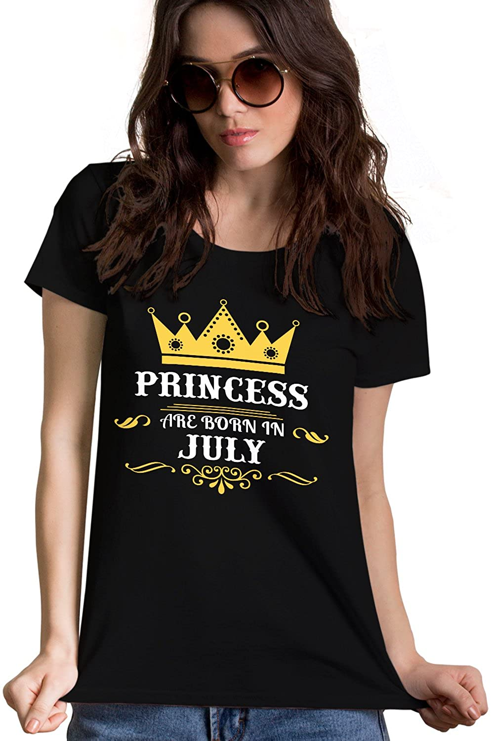 2134252b1 Princess Are Born In July Black T-Shirt with crown | Birthday Gift For  Women, Girls, Mother, Wife, Sister, Girlfriend, Her: Amazon.in: Clothing &  ...