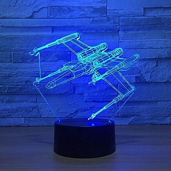 Usb 7 Cambio De Color 3D Led Luz De La Noche Ala Simulación Niños ...