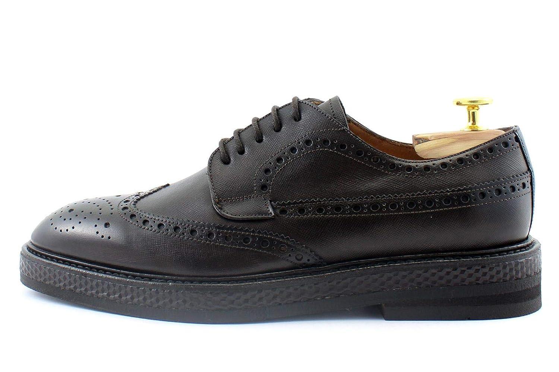 Giorgio Rea Handgefertigt Herrenschuhe Schnürhalbschuhe Echtes Leder, Handgefertigt Rea in Italien Chocolate 429964