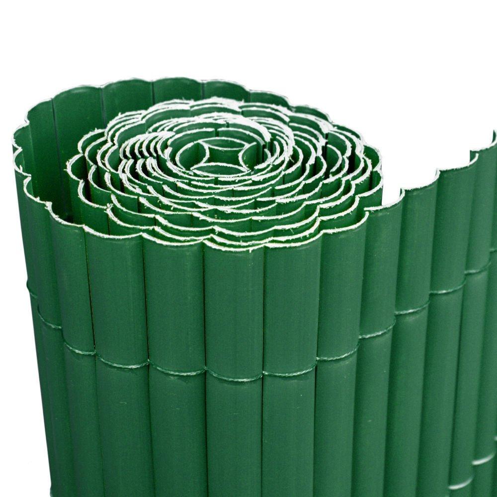 Arella singola 300x150cm canniccio PVC plastica recinzioni giardino Verde 44992 Evergreen