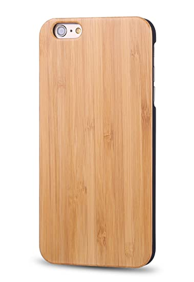 big sale 35604 811d8 iPhone 6/6s Plus Wooden Case, OTTII Genuine Bamboo Wood Case for iPhone  6/6s Plus (5.5