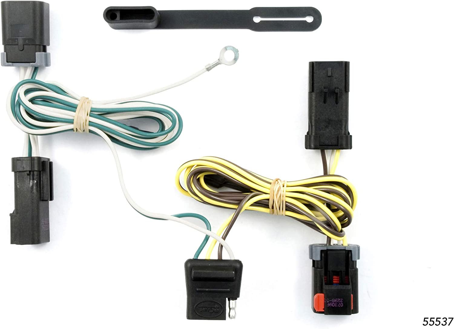2006 chrysler town and country wiring harness amazon com curt 55537 vehicle side custom 4 pin trailer wiring  trailer wiring