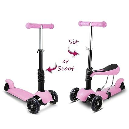 WeSkate Patinete Niño Scooter 3 en 1 Walker Trole Scooter 3 ...