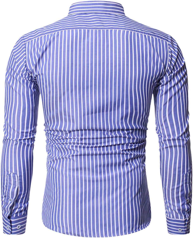 Otoño Camisa Casual de Manga Larga para Hombres Camiseta ...