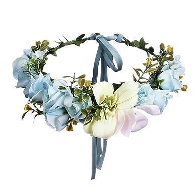 Awaytr Blumen Stirnband Hochzeit Haarkranz Krone Frauen Madchen