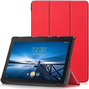 TTVie Funda para Lenovo Tab E10, Carcasa Ultra Delgado y Ligero con Cubierta de Soporte para Lenovo Tab E10 - Tablet de 10