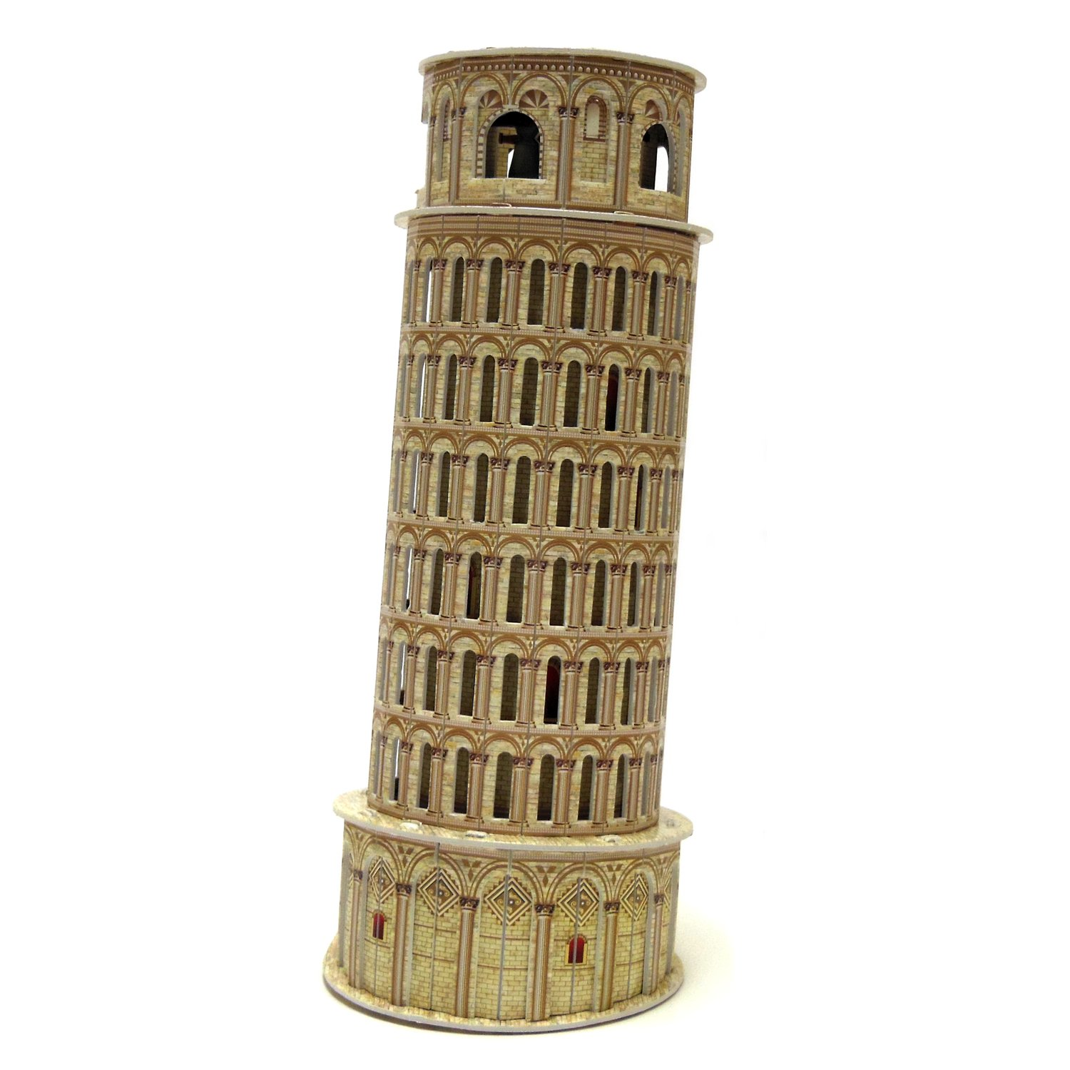 Ltd. Creative 3D Puzzle Paper Model Leaning Tower of Pisa DIY Fun /& Educational Toys World Great Architecture Series 16 Pcs Shantou Calebou Puzzle Toys Industrial Co