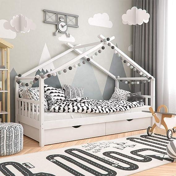 Babify Homy - Cama Infantil - Cama para niños 200 x 90 cm - Cajones opcionales: Amazon.es: Bebé