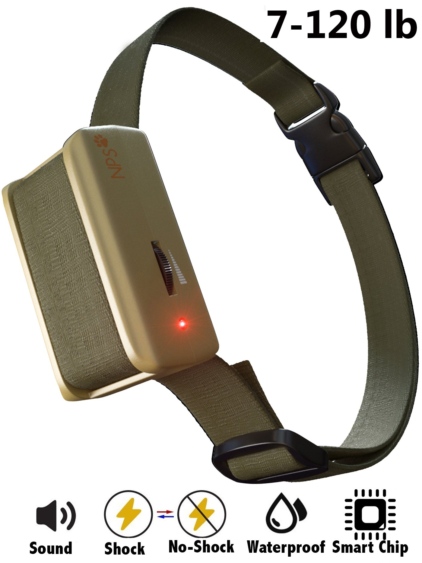 Newest [2018 SUPERHUMAN CHIP] Bark Collar with Smart Detection Module - Best Dog Shock, Beep Anti-Barking Collar. No Bark Control for Small/Medium/Large Dogs - Stop Barking Safe Humane