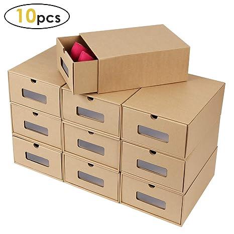 Amazon.com: Caja de zapatos Prasacco, paquete de 10 ...
