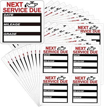 Oil Change Service Reminder Sticker Clear Window Lite Stock 100 Stickers Pieces