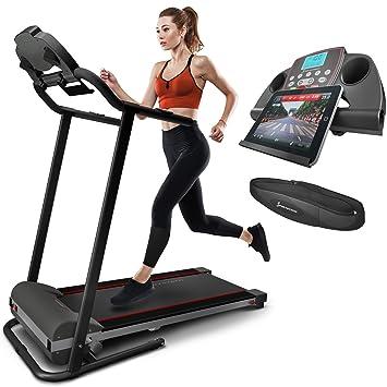 sportstech tapis de course lectrique pliable f10 compatible bluetooth smartphones ceinture cardio 10 - Tapis De Course Pliable