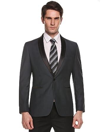 Coofandy Men's Slim Fit Stylish Casual One-Button Suit Coat Jacket ...