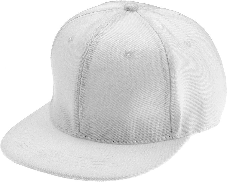 SDHEIJKY Trendy Plain Snapback Hat Cap Flat Baseball Hiphop Adjustable Hats