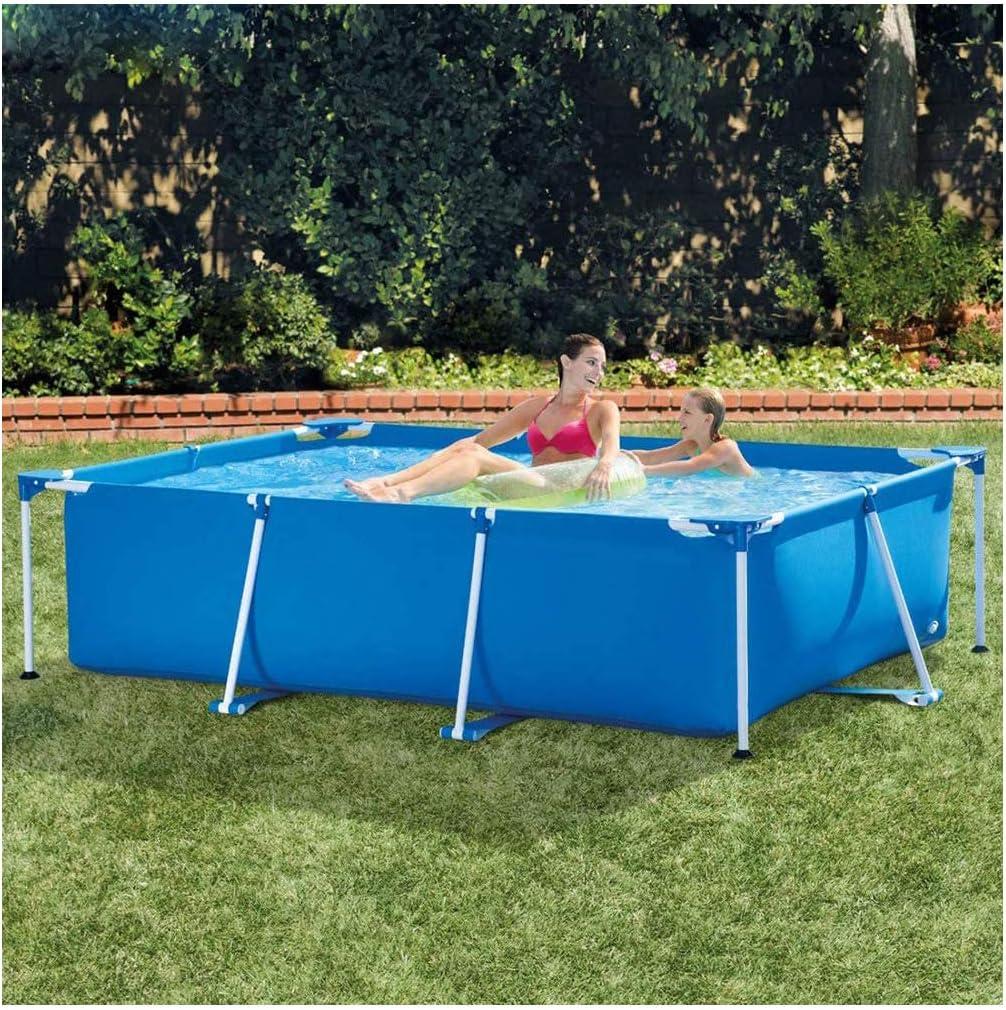 WY&WY Piscina para Niños, Pools, Piscina con Marco, Sin Bomba De Filtro, Mejor Regalo Familiar, Caja De Regalo, Azul 300X200X75 Cm
