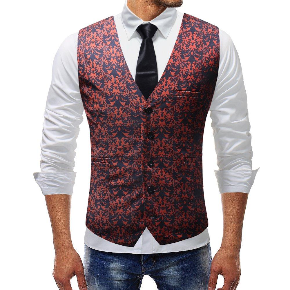 Mymstorm Mens Suit Vest Dress Vest Waistcoat For Men Single Breasted