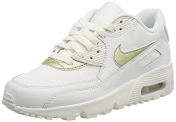 100% authentic a7223 6d92c Nike Air Max 90 LTR (GS) Chaussures de Trail Femme, Blanc (Summit