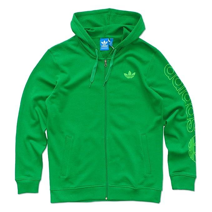 adidas Originals Chaqueta con Capucha para Hombre Verde ...