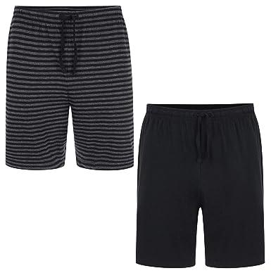 Ex M/&S Mens Grey White Striped Pyjama Bottoms PJs Draw String Waist Size XL XXL