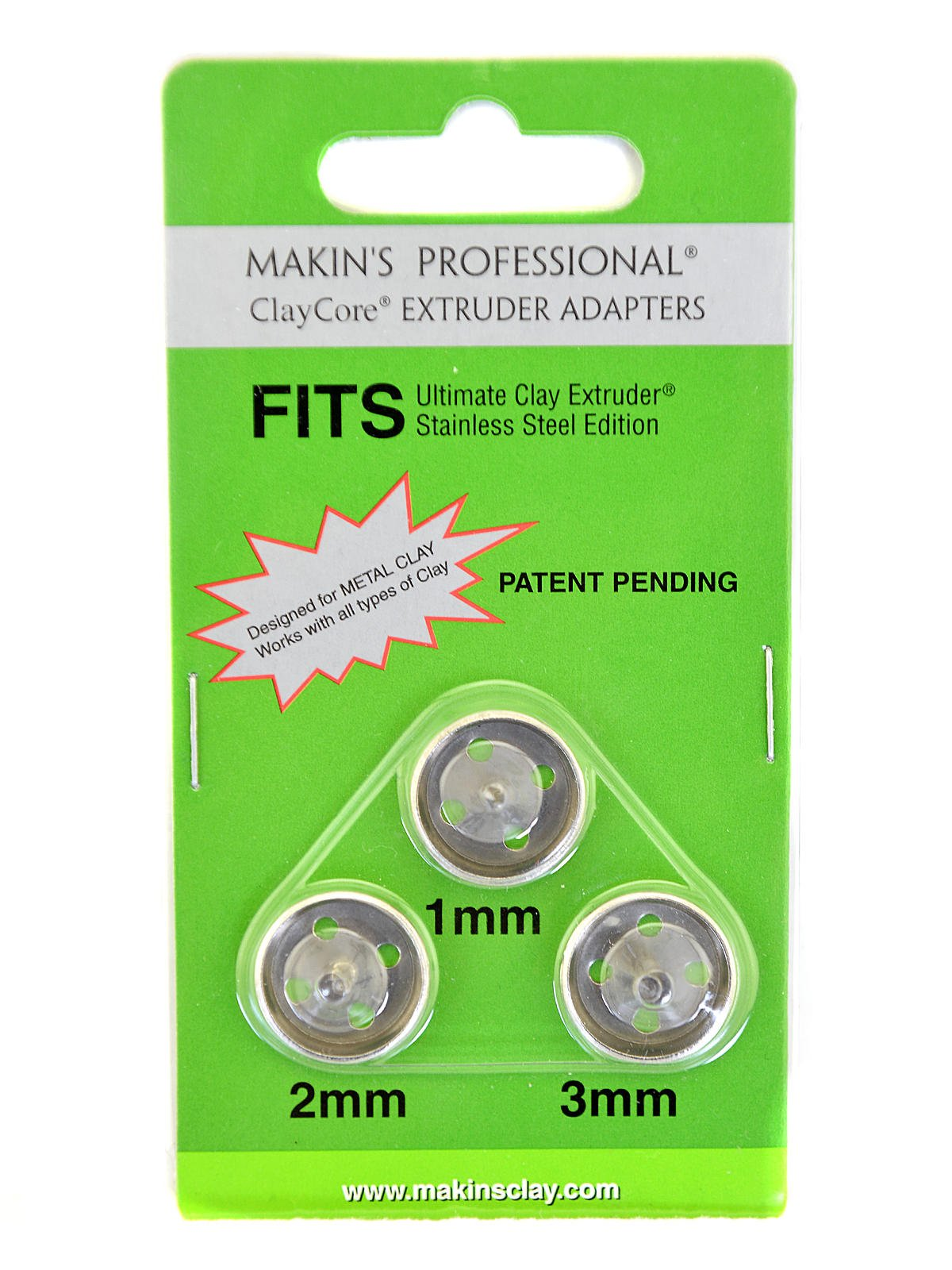 Makin's USA Ultimate Clay Extruder ClayCore 1mm, 2mm & 3mm [PACK OF 3 ]