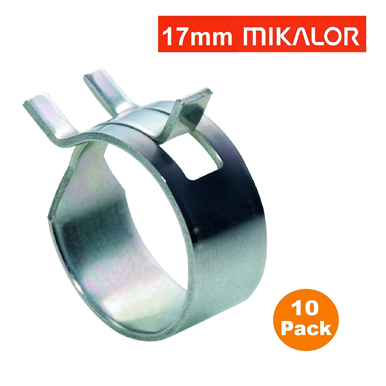 10 x 6mm Mikalor W1 selbst Klemmfeder Schlauch Clips Silikon Rohr Luft-Kraftstoff-Band