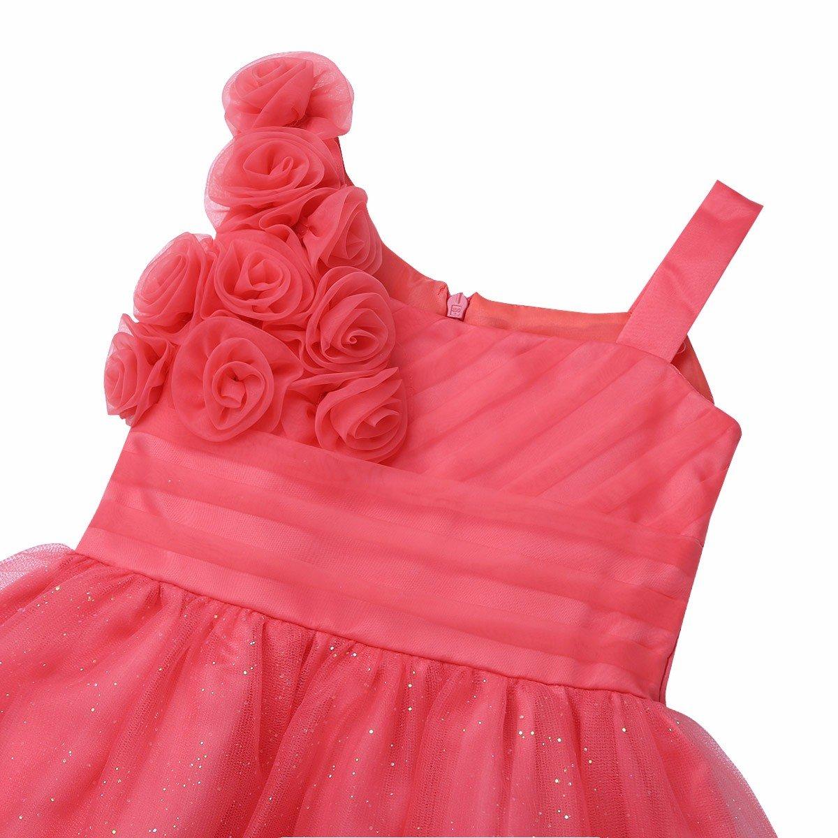 Tiaobug Babykleider M/ädchen festlich Taufkleid Blumenm/ädchen Prinzessin Hochzeits Kleider Kleinkind Kleidung