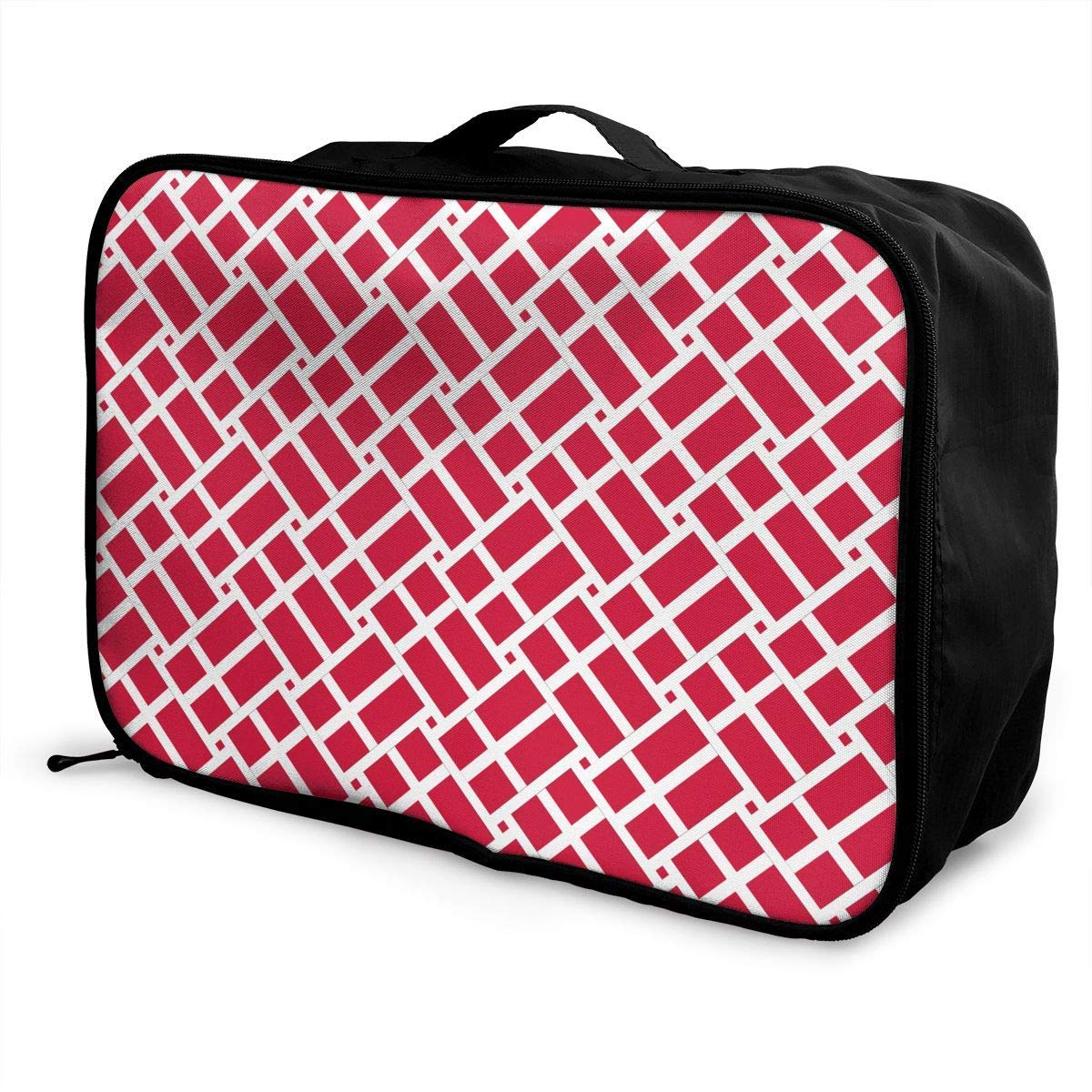 Portable Luggage Duffel Bag Flag Of Denmark Travel Bags Lightweight Overnight Carry-on Tote Duffel In Trolley Handle