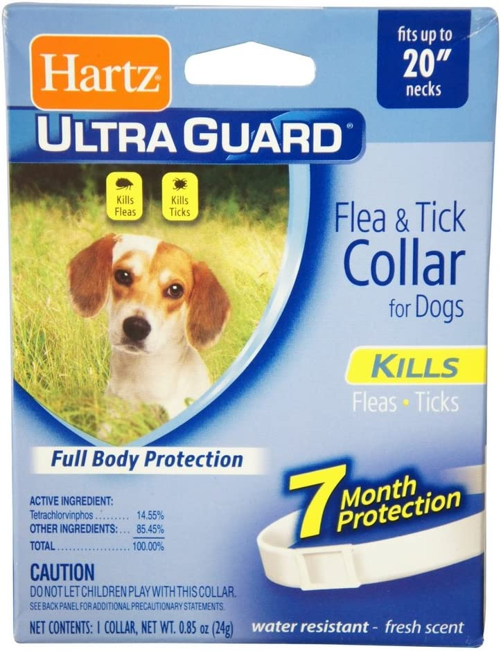 "Hartz Ultraguard Flea & Tick Dog Collar 20"", White 1 ea (Pack of 2)"