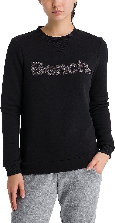 Bench Womens Logo Crew Neck Sweatshirt