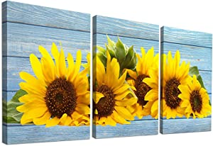 Canvas Wall Art for Kitchen Family Wall Decor for Bedroom Bathroom Canvas Prints Artwork Sunflower Flowers Paintings 12