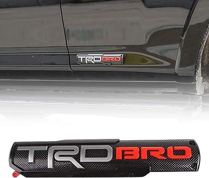 2Pcs 4x4 Emblem Badge Nameplate 3D Car Fender Side Rear Tailgate Sticker Decal for fit Tacoma TRD Pro Tundra 4Runner Sequoia Fortuner Hilux FJCruiser Highlander Prado Land Cruiser(Silver)
