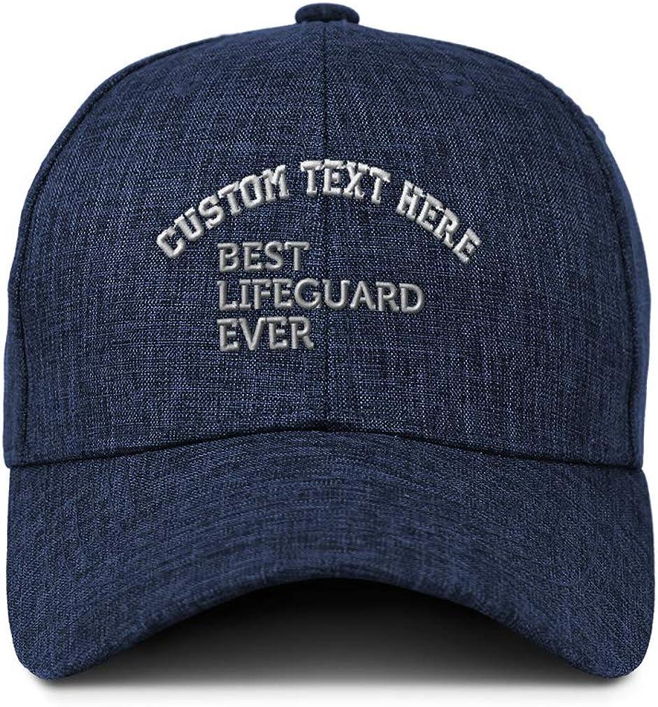 Custom Baseball Cap Best Lifeguard Ever Embroidery Casual Hats for Men /& Women