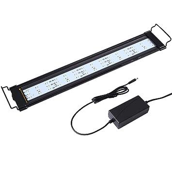 NONMON Iluminación de Acuario LED Lámpara para Decoración Acuarios Pecera Estanques Multicolor 55cm: Amazon.es: Bricolaje y herramientas
