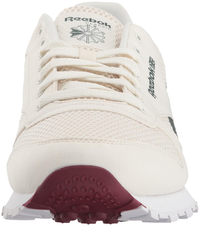 Zapatillas Reebok CL s HC en piel para hombre Chalk   Urban Maroon   Chalk 95c98c95a2f97