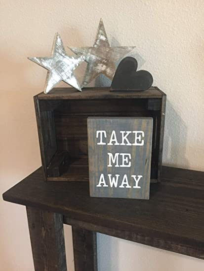 Amazon.com: rfy9u7 Pallet Wood Take me Away Sign - 5.5
