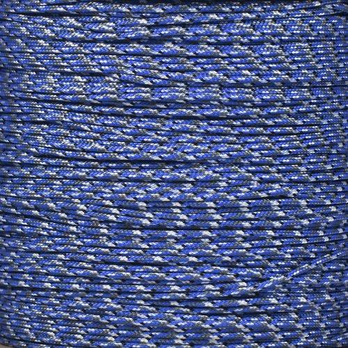 タイプ1 & 1000 ' 95 lb引張強度パラコードスプール250サイズオプション) B016J2EDIC Bucky Blue Camo 250' Spool 250' Spool|Bucky Blue Camo