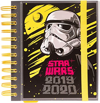 Agenda escolar 2019/2020 día página M Star Wars: Amazon.es ...