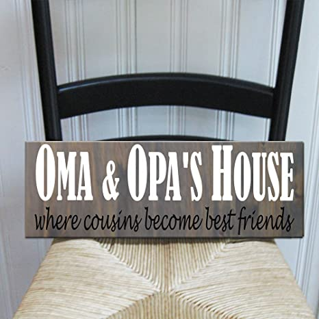 Wondrous Oma And Opas House Handprinted Wood Sign 16 X 25 Where Download Free Architecture Designs Rallybritishbridgeorg