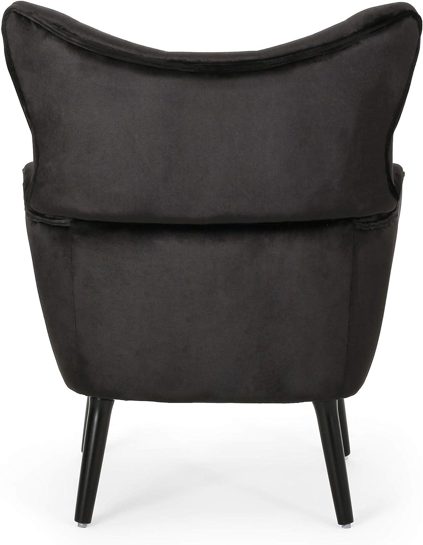 Christopher Knight Home Mandy Velvet Accent Chair, Black, Dark Brown