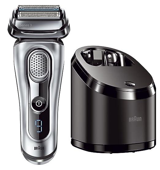 Braun-Series-9-9296cc-elektrischer-Rasierer-Rasierapparat-Reinigungsstation-Clean-und-Charge-und-Premium-Leder-Etui