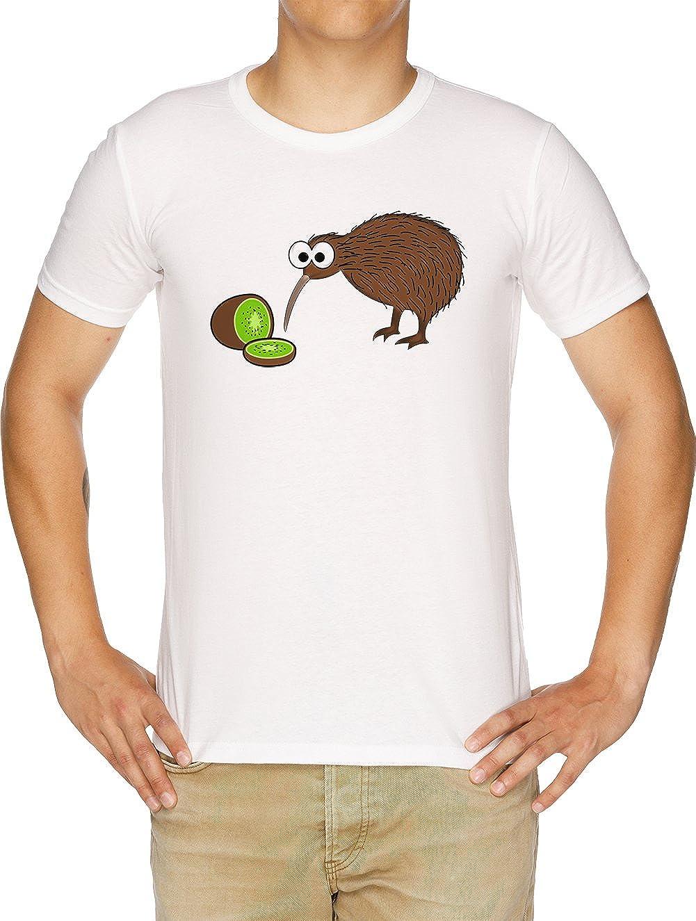Vendax Kiwi Pájaro Camiseta Hombre Blanco: Amazon.es: Ropa y accesorios