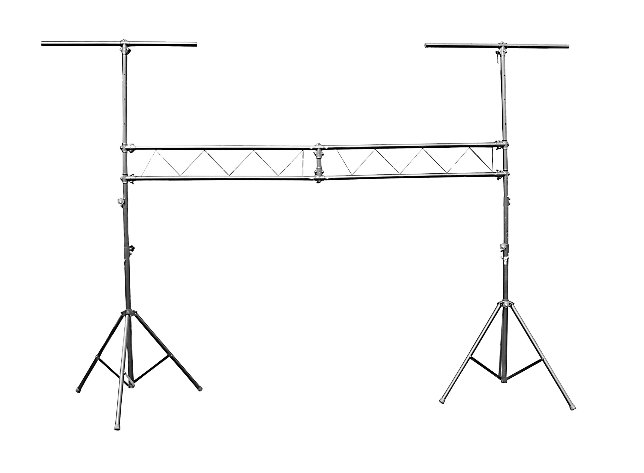 DJ Lighting 10ft Truss Stand All Metal Trussing System Prox Stands High Quality Easy to Setup Holds 200 Lbs by Pro X