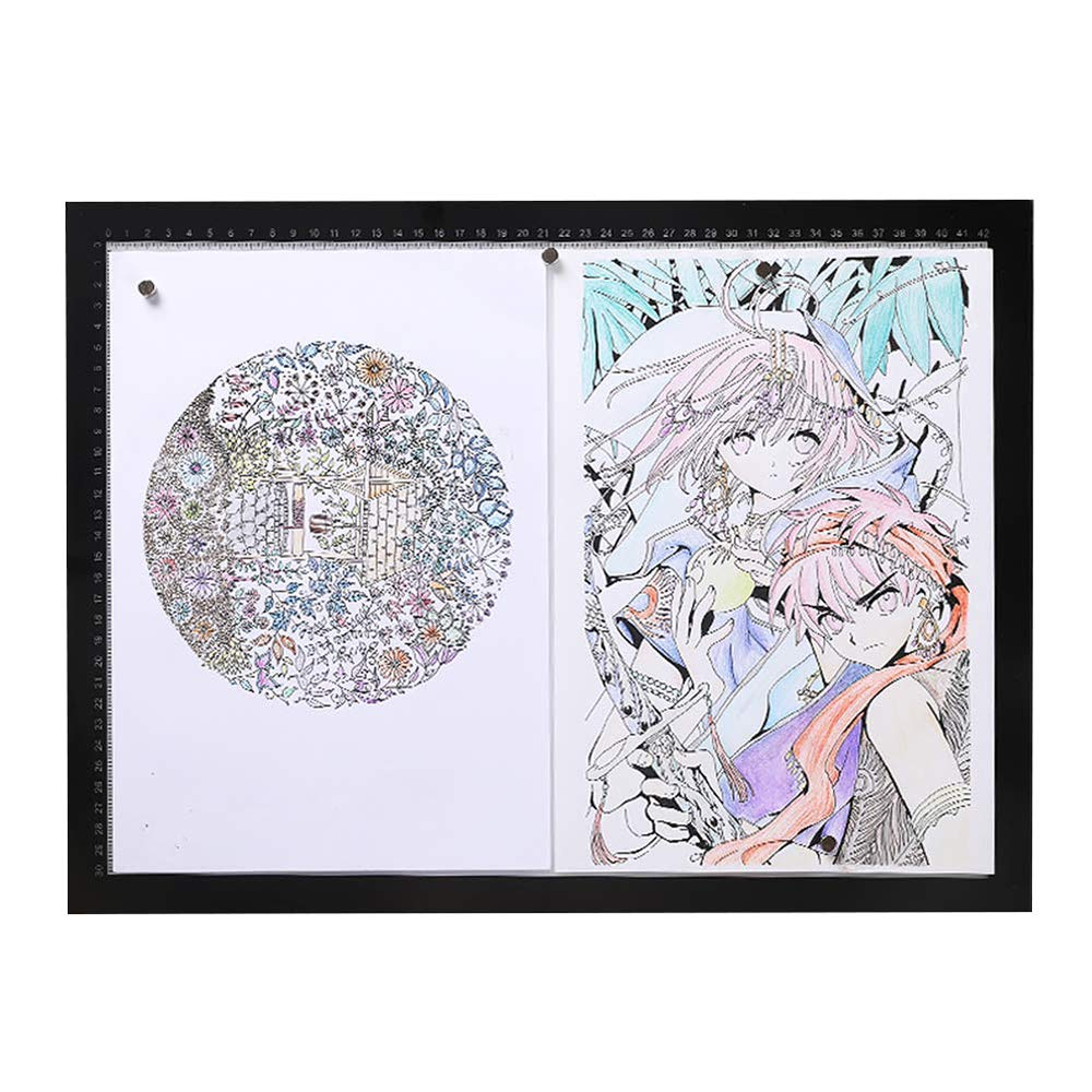 A4/A3/A2 Light Box Drawing, Ultra-Thin LED Copy Board and USB Cable Drawing Light pad, Art Craft Drawing Tracking Tattoo Board Artist, Drawing, Anime, Sketch, Design by Art Supplies