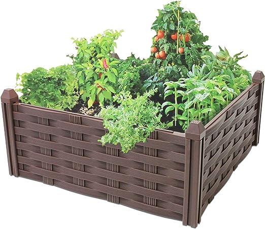 Valla Decorativa para Jardín (4 Unidades, Plástico), Color Marrón: Amazon.es: Jardín