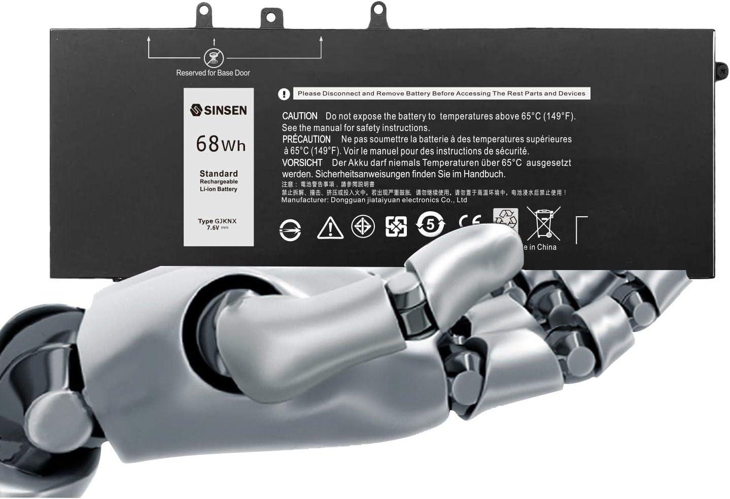 Laptop Battery for Dell, GJKNX Latitude Battery 5480 5580 5280 5490 5491 5580 5590 5591 E5480 E5580 E5590 E5490 Precision 15 3520 3530 M3520 GD1JP 0GD1JP DY9NT 0DY9NT 5YHR4