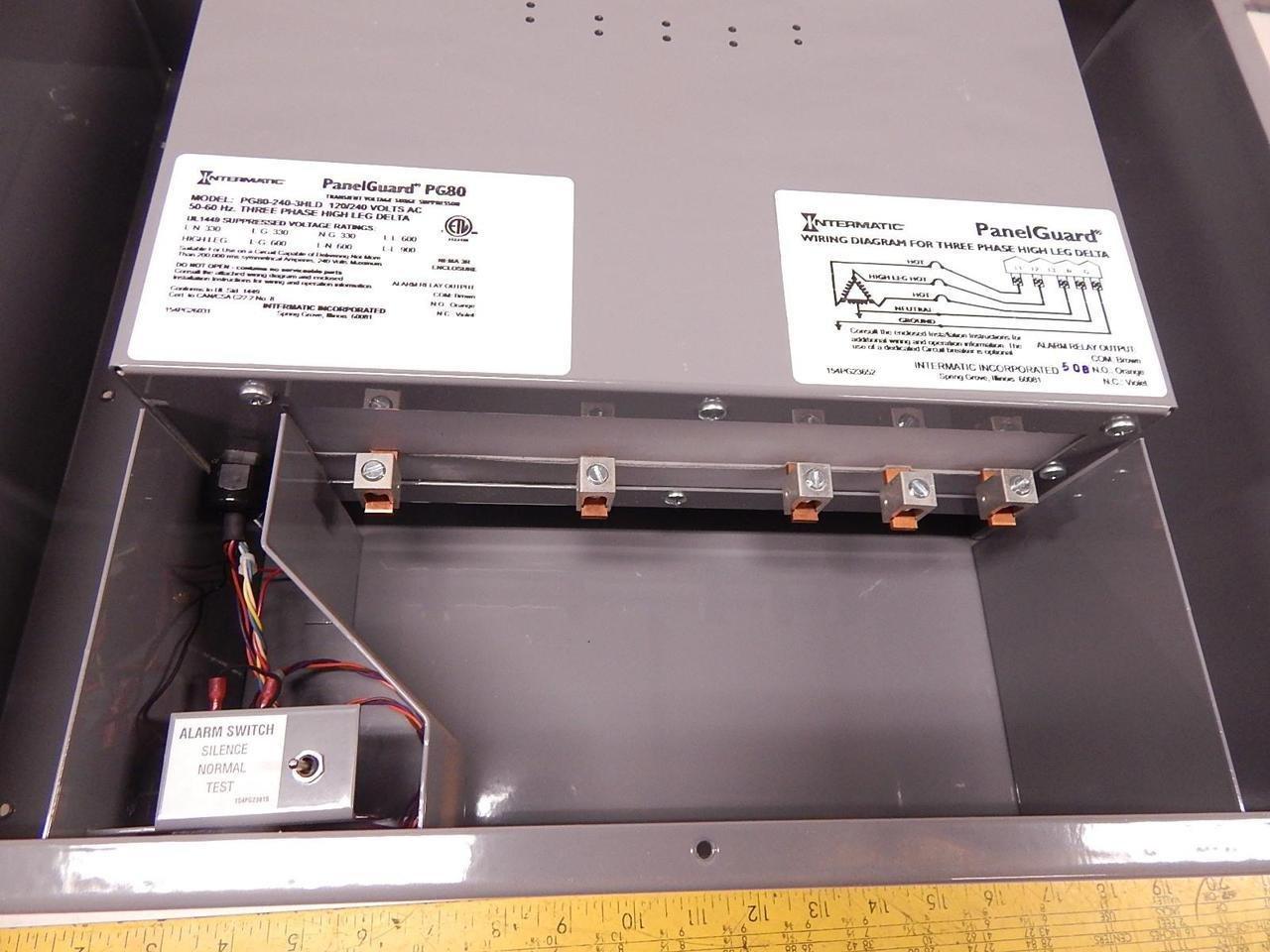 Intermatic Pg80 240 3hld Panelguard Transient Voltage Surge X8 Wiring Diagram Suppressor 120 Vac Industrial Scientific
