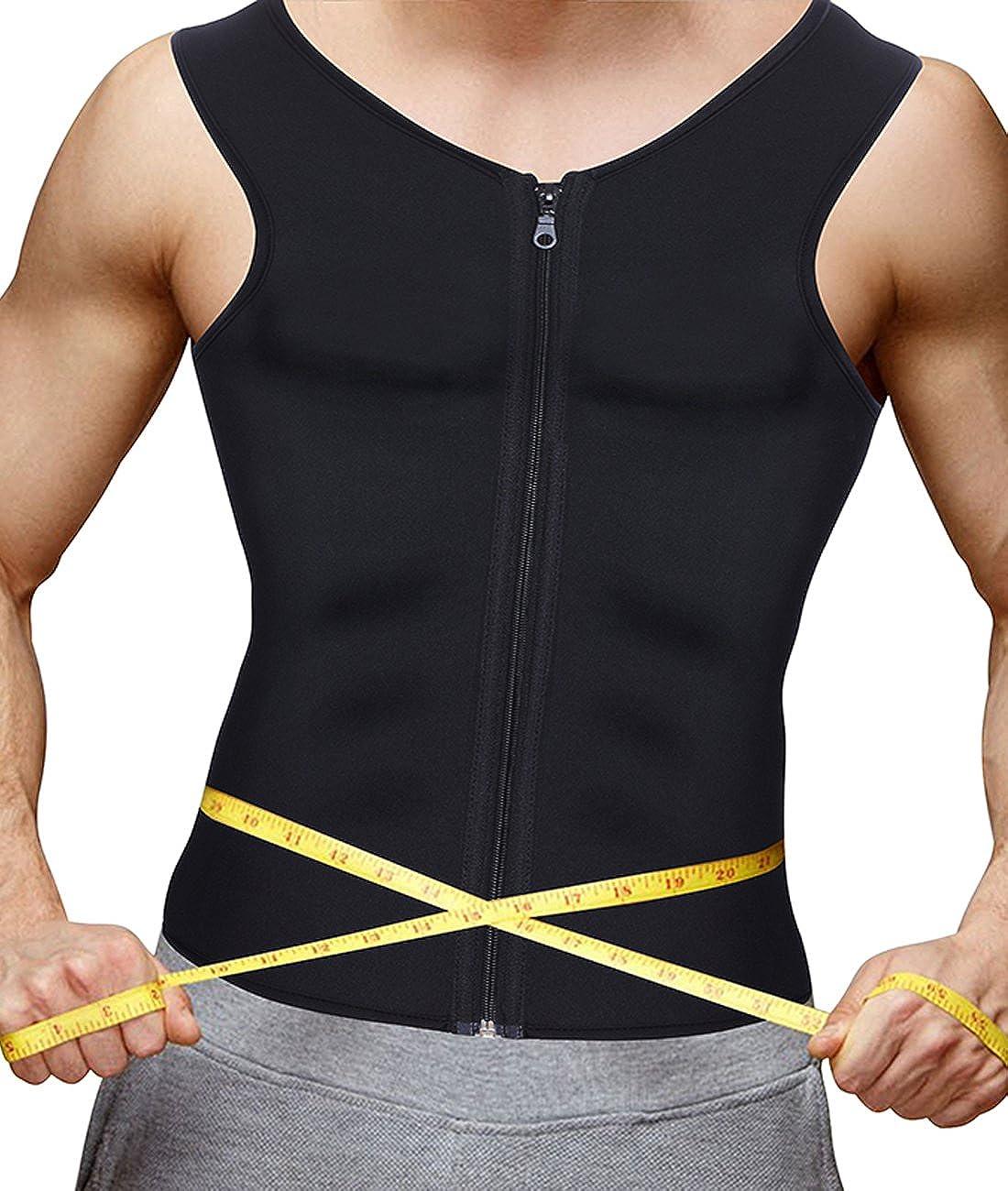 Junlan Mens Sauna Vest Suit Neoprene Sweat Like Crazy Slimming Shirt for Weight Loss Burn More Fat Workout