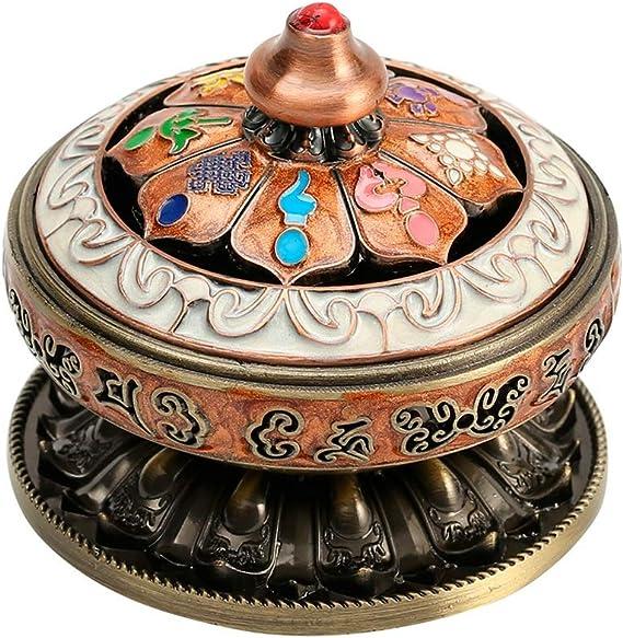 芳香器・アロマバーナー 八枚の宝香炉アンティークの銅プレート香炉家庭用屋内チベット香炉 アロマバーナー芳香器
