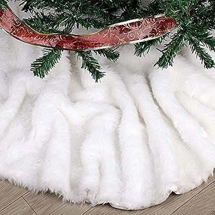 Amazoncom Fdy My Faux Fur Christmas Tree Skirt 36 Inches Elegant